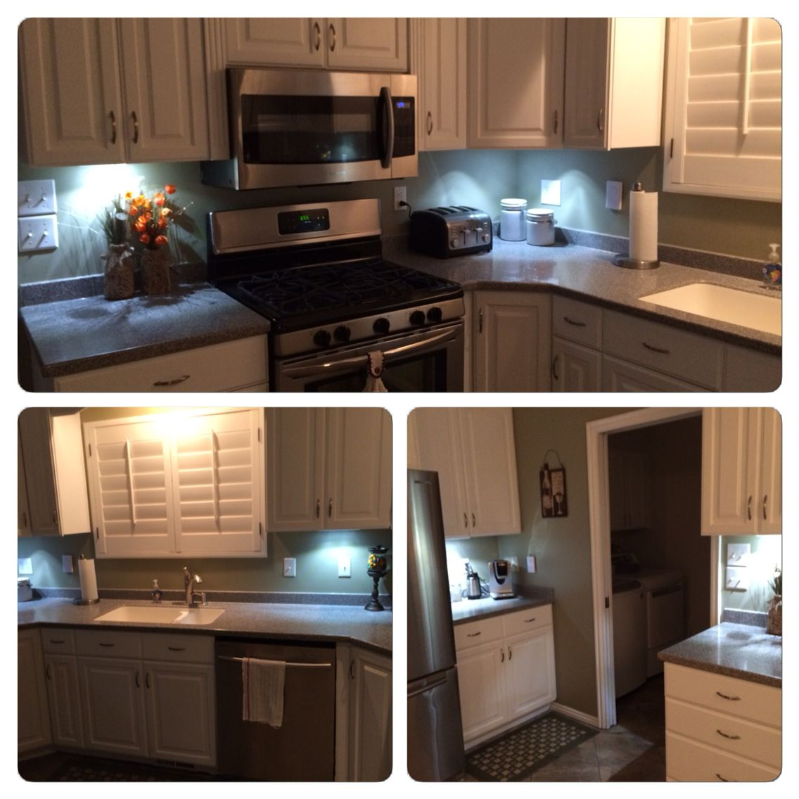 Added wireless LED lights under my cabinets! Love it and ...