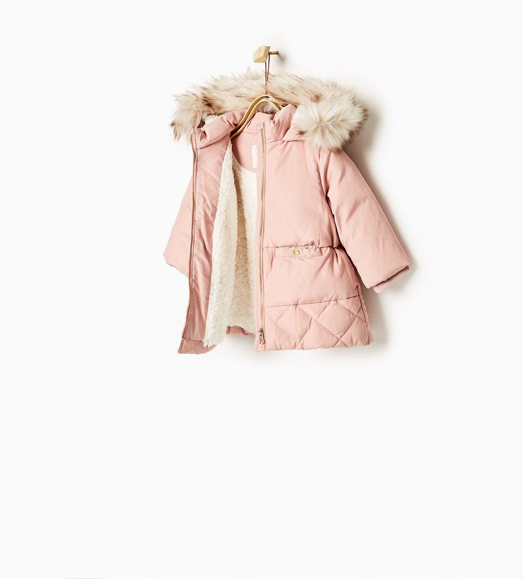 Quilted jacket with faux fur hood-COATS-Baby girl-Baby  6d9adb9e73129