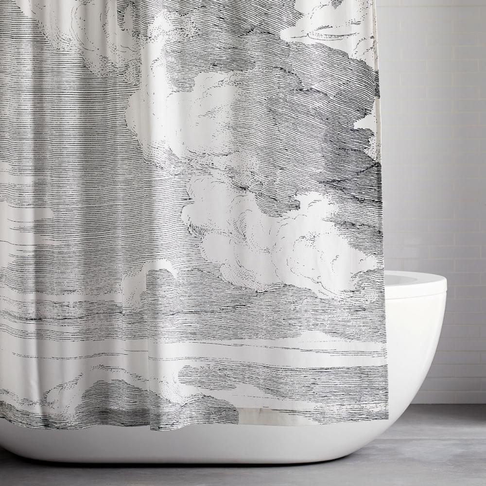 Organic Cloud Shower Curtain Modern