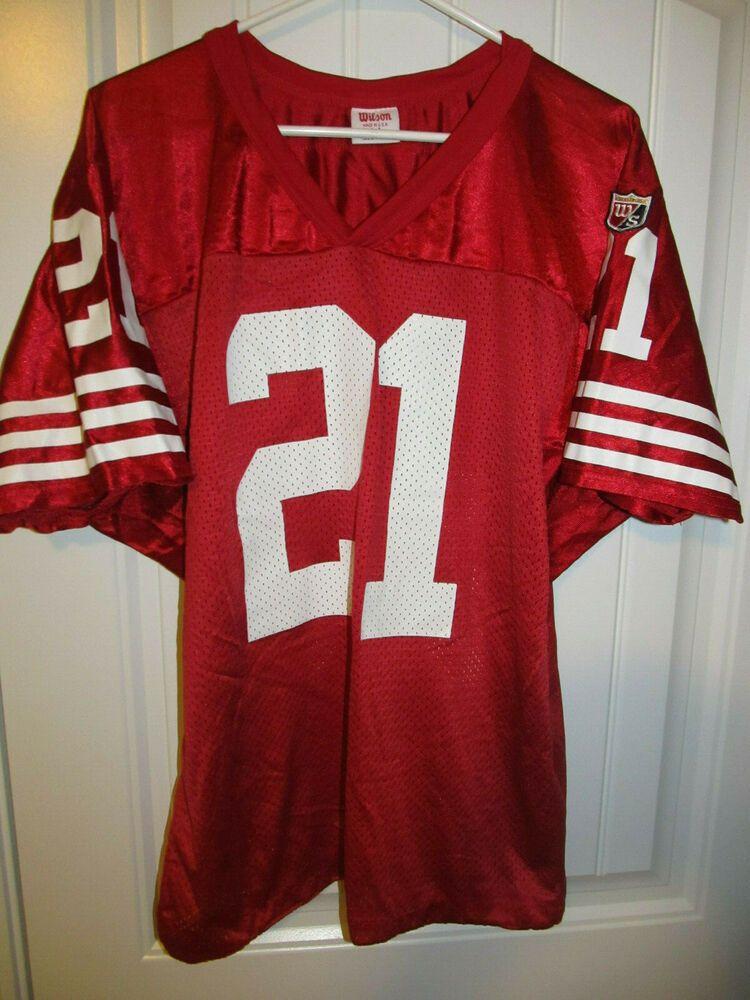 watch 5c1ce 4f40e Deion Sanders - San Francisco 49ers Jersey - Wilson Adult ...