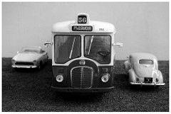 Autobus parisien SOMUA OP5-3 (face) 1/43 (xavnco2) Tags: bus 1955 model autobus 56 ratp ligne 442 143 diecast parisien stadtbus hachette op5 somua modlesrduits op53