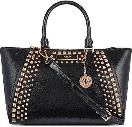 b614581b6 DKNY Studded saffiano satchel on shopstyle.co.uk | ???Purses ...