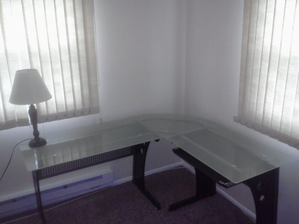techni mobili gehärtetes Glas computer Schreibtisch, home office ...