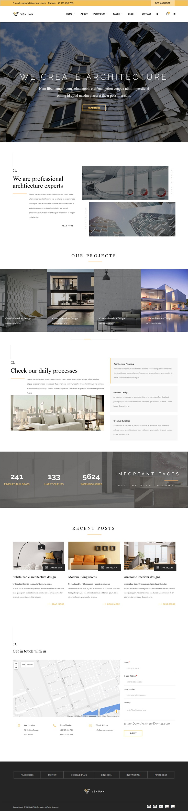 Pin by Web Design Inspiration on Free Bootstrap Themes