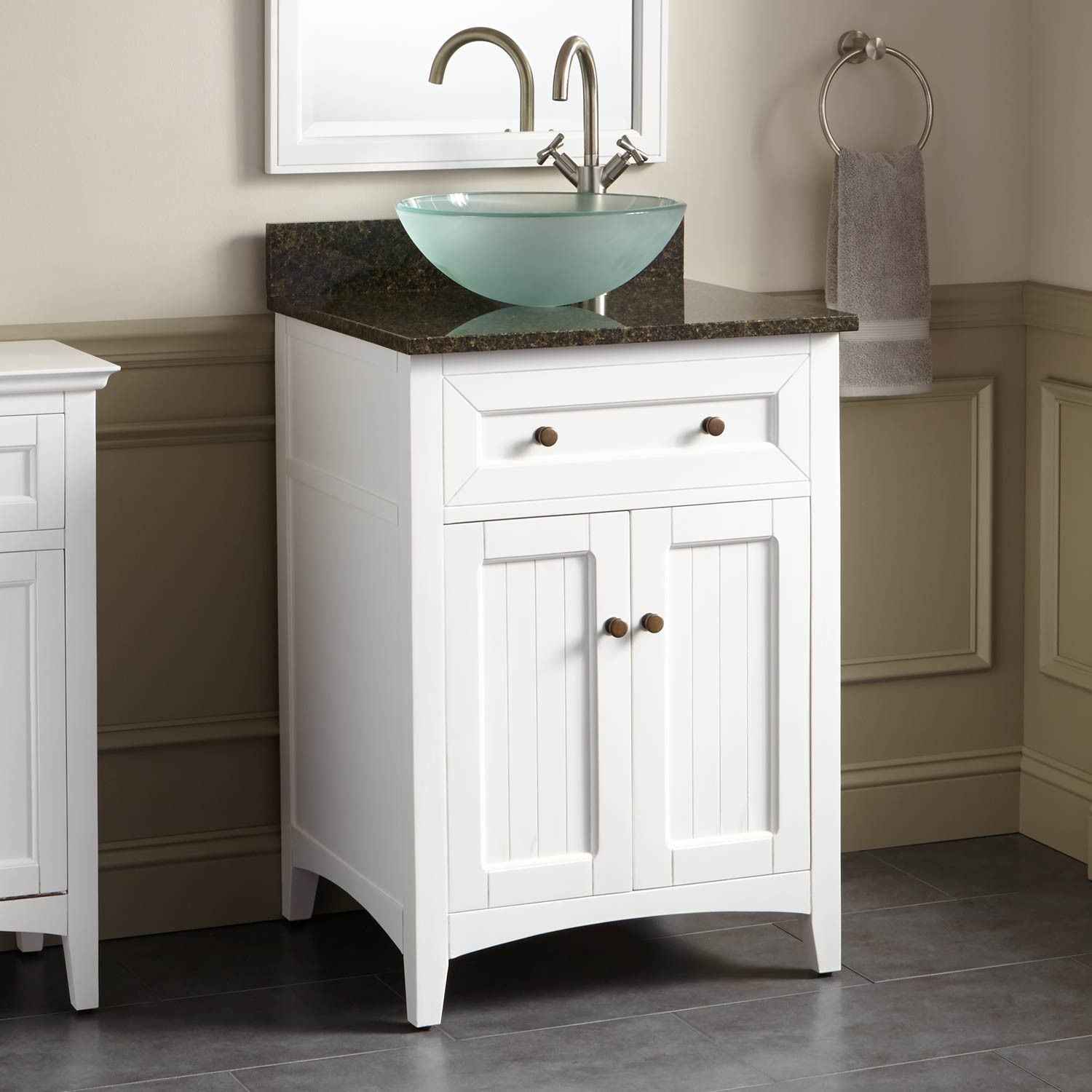 24 Halifax Vessel Sink Vanity White Vessel Sink Vanity