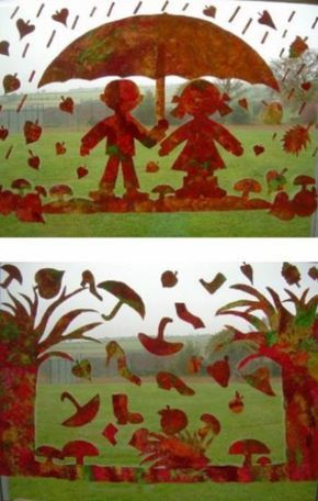 Fensterbilder basteln - 64 DIY Ideen für stimmungsvolle Herbstdekoration
