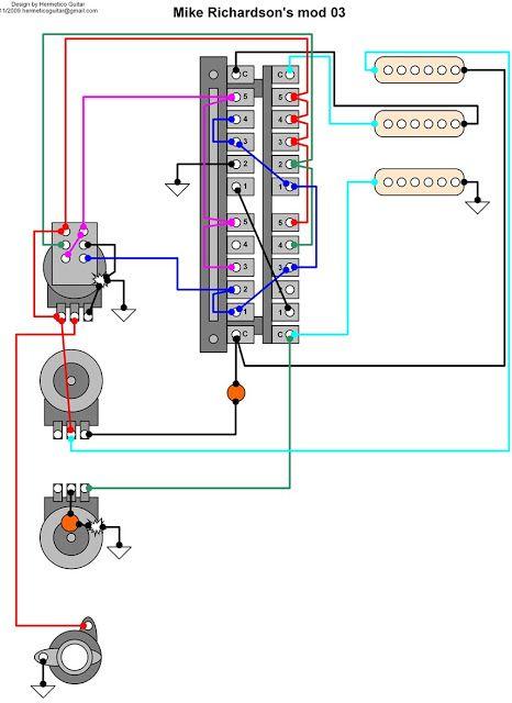 Hermetico Guitar Wiring Diagram Mike Richardson mod 03 Guitar