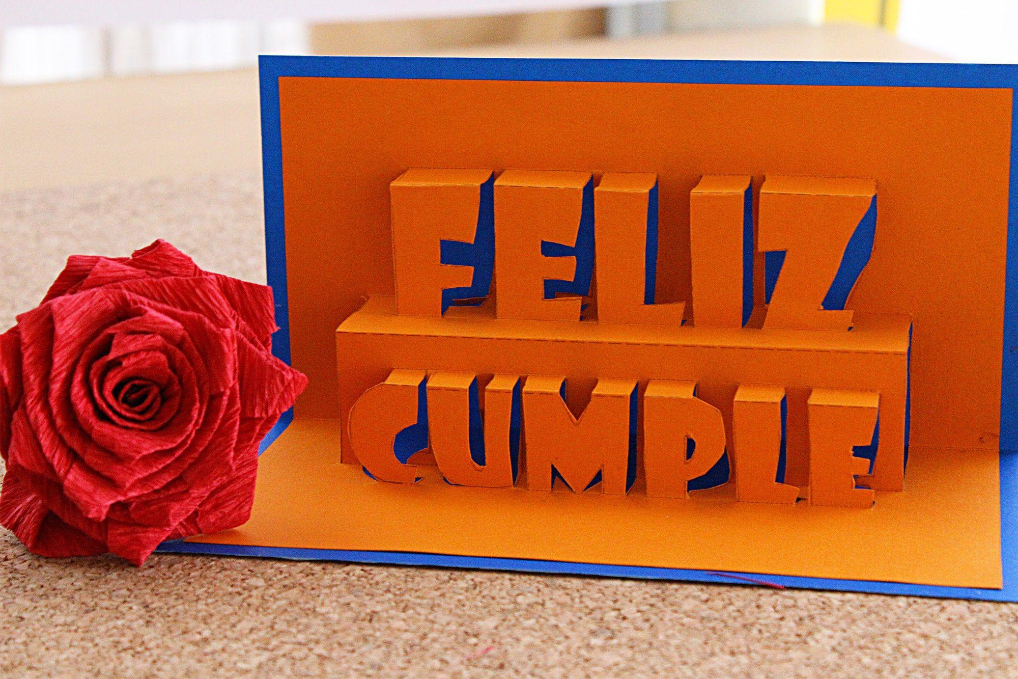 Feliz Cumpleanos Tarjeta Pop Up 3d Happy Birthday Remake