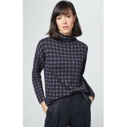Photo of Pullover mit Alpaka in Navy-Taupe windsor