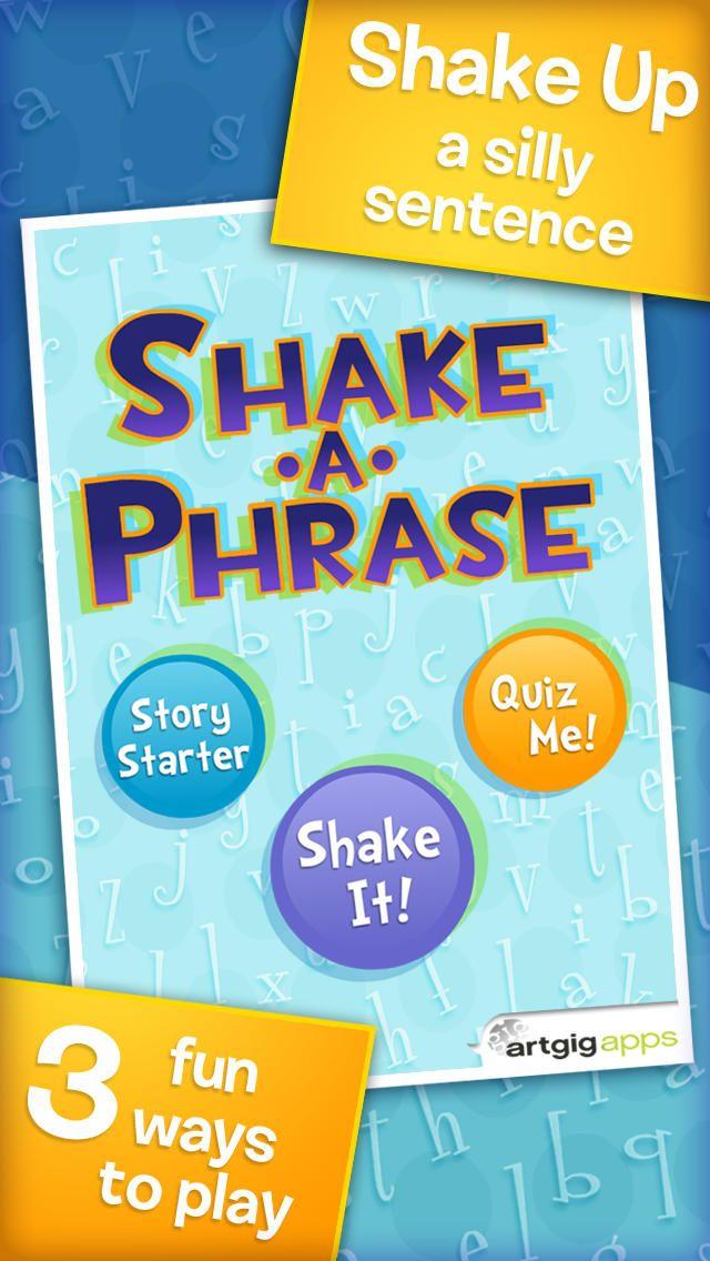 kids apps SHAKEAPHRASE Kids app, Speech apps, Learning