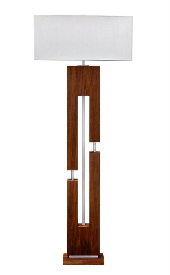 Boutique LED lampe de plancher contreplaqué et Plexiglas