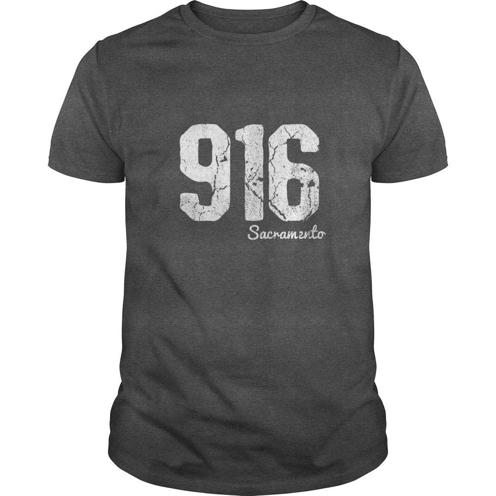 Sacramento California Area Code Vintage TShirt Gift Ideas - 916 area code