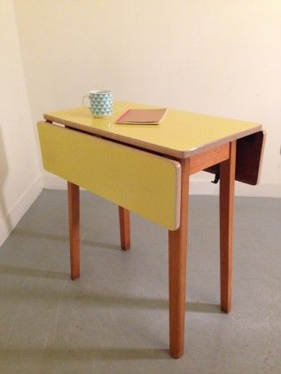Table Formica Jaune 19 Meubles Vintage In 2018 Pinterest