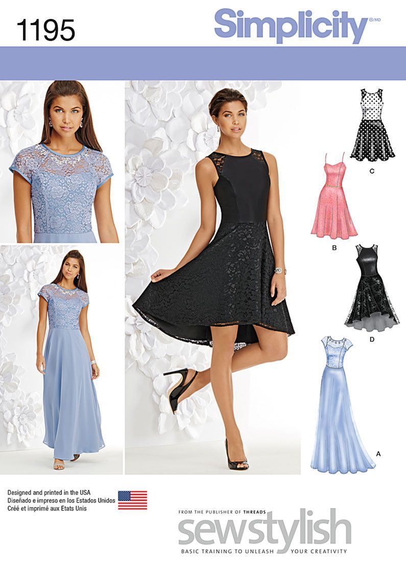 S1195 Misses and Miss Petite Special Occasion Dress | Ballkleid ...