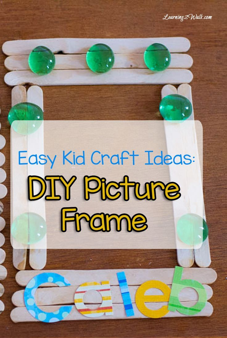 Easy kid craft ideas diy picture frame craft homeschool and easy kid craft ideas diy picture frame jeuxipadfo Gallery