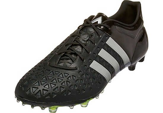 in stock c754c 4b9b1 adidas ACE 15.1 FG/AG Soccer Cleats - Black and Silver ...