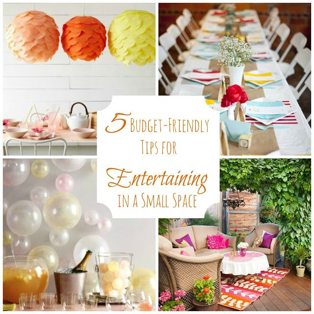 5 Tips For Hosting An Inexpensive Party In A Small Space Housewarming Party Party Setup Apartment Party
