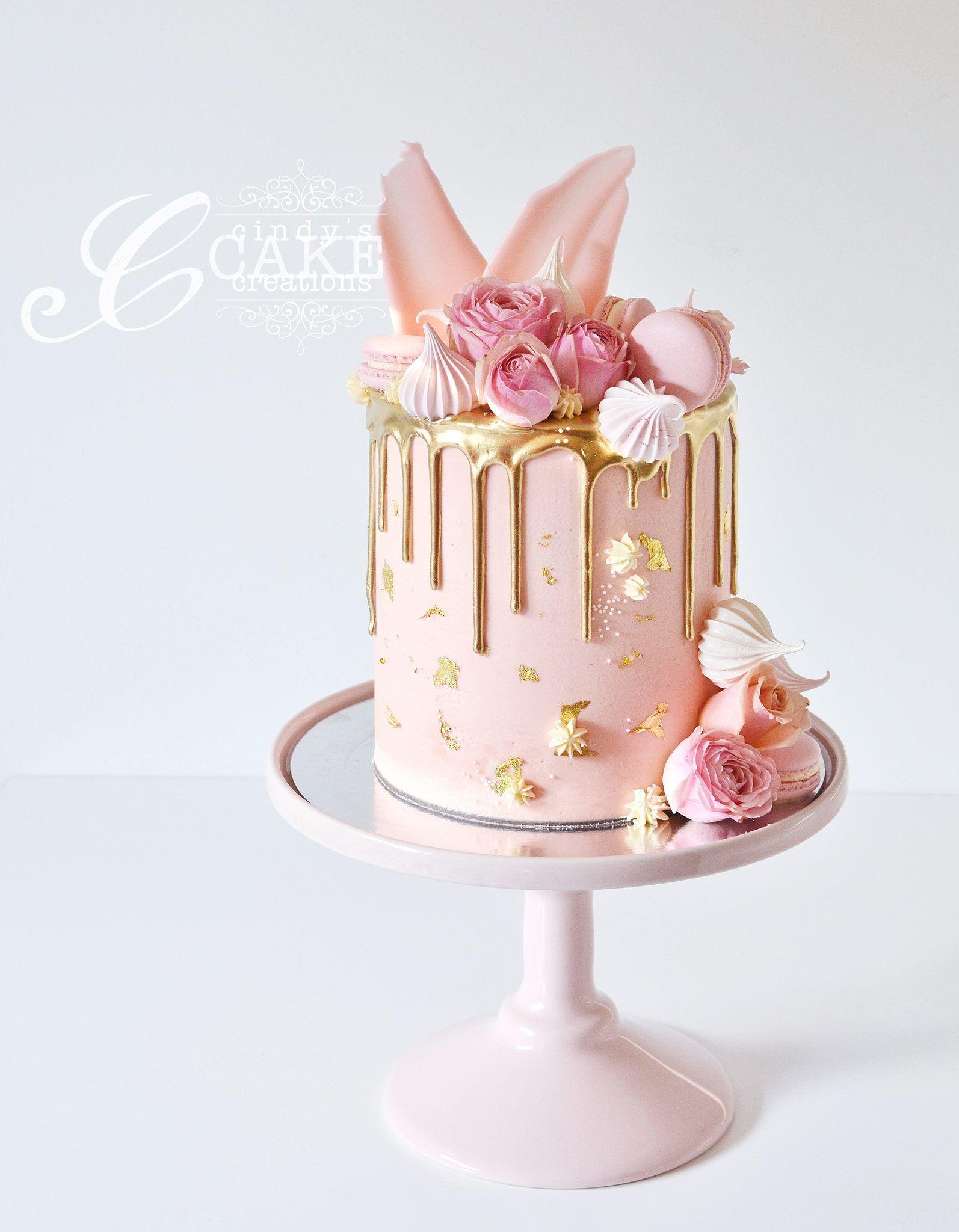 Cindys Cake Creations Cakes Pink Pinterest Cake Drip Cakes