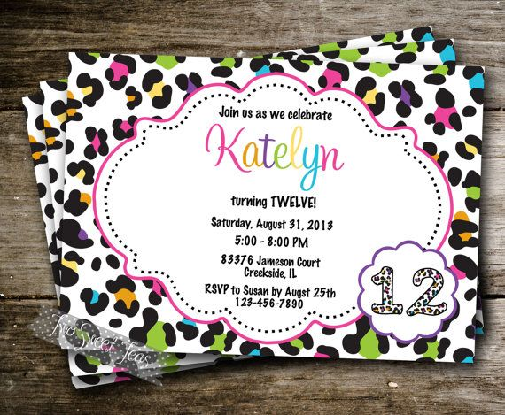 17 Best images about wild party invitations aka lovin it on – Animal Print Party Invitations
