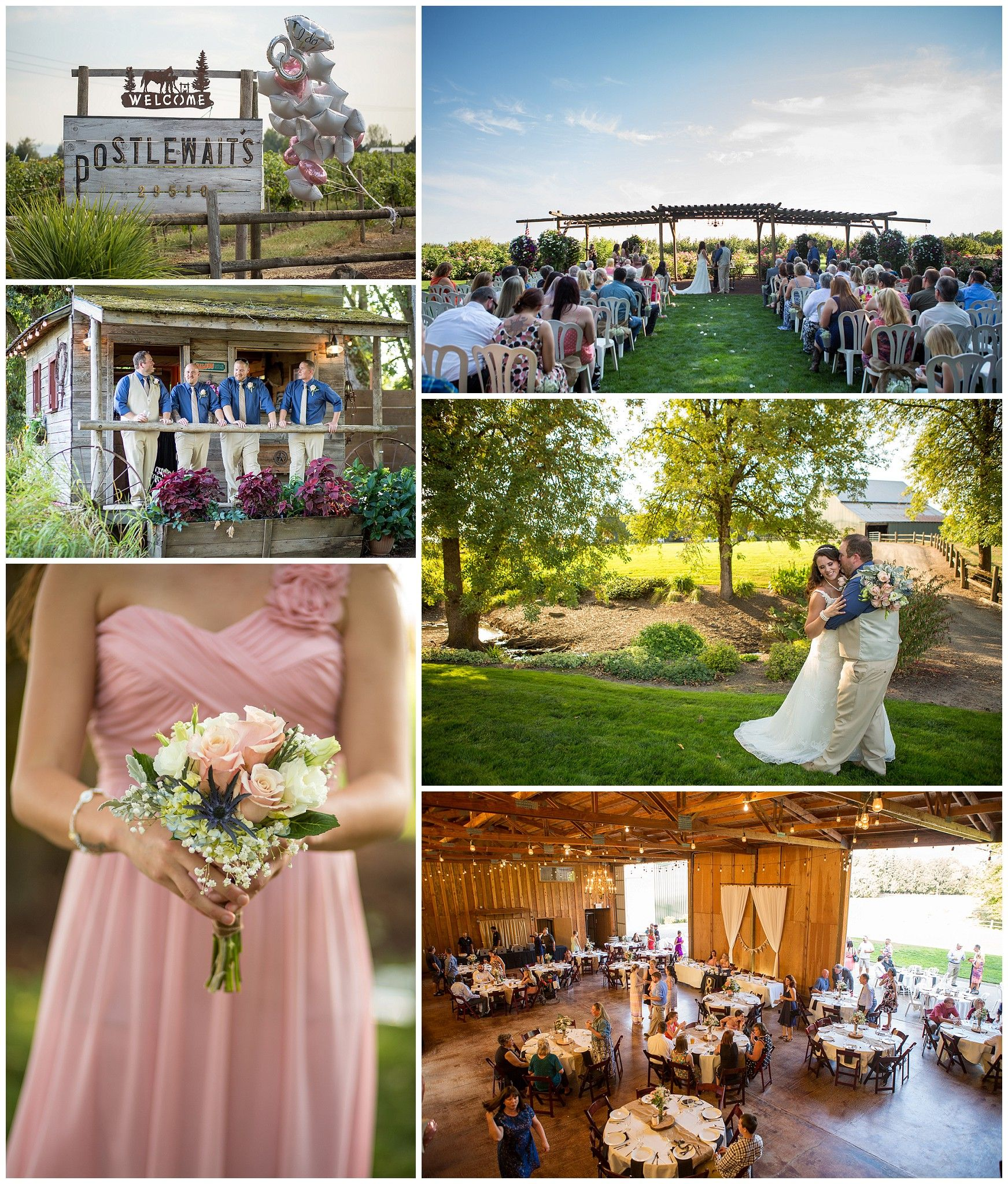 Country Wedding At Postlewaits In Canby Oregon
