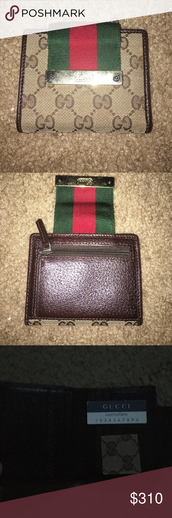 Authentic Gucci wallet Good Condition, Authentic, purchased at Gucci store in International Mall, Tampa FL. Gucci Bags Wallets