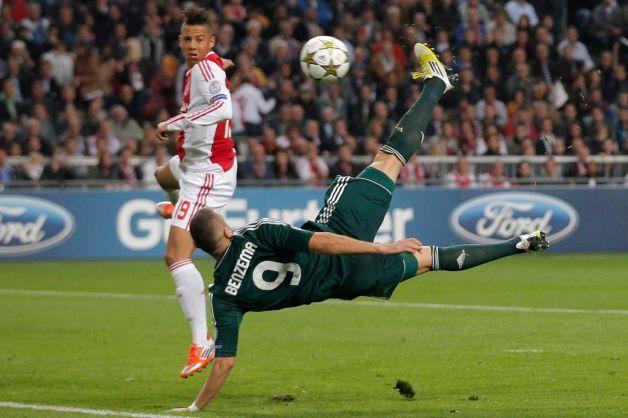 Karim Benzema Scores Bicycle Kick Goal Vs Ajax To Give Real Madrid