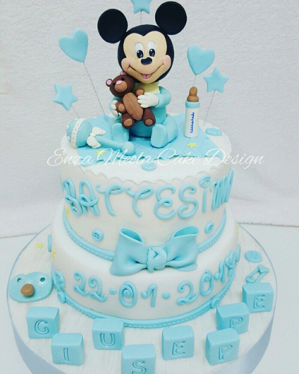 Top Torta battesimo bimbo baby topolino babymickey mouse | torte  PI96