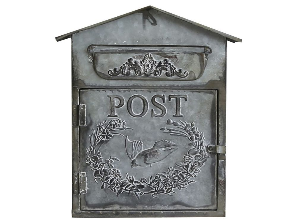 chic antique briefkasten zink metall nostalgie landhaus postkasten mailbox briefk sten. Black Bedroom Furniture Sets. Home Design Ideas