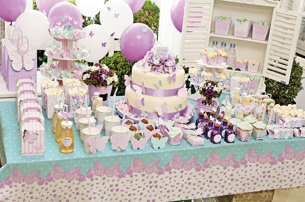 Festa Borboletas #cromus #lindo #fofo #festa Cromus Festas Birthday Cake, Baby Shower e Party # Decoração De Aniversario Jardim Encantado Das Borboletas