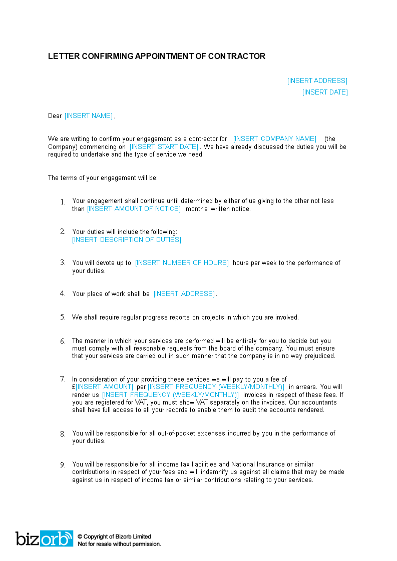Building Contractor Appointment Letter How To Create A Building Contractor Appointment Letter Download This Building C Lettering Letter Templates Templates