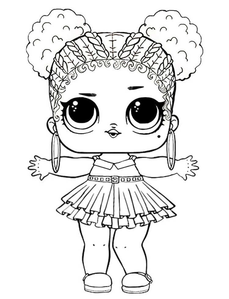 Lol Doll Coloring Pages Angel Background
