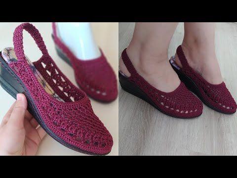 ANNELER GÜNÜNE ÖZEL ÖRGÜ ANNE AYAKKABISI ✅ Knitting Shoes Örgü ayakkabı modelleri ✅ Model Ayşe Varol – patiklerim