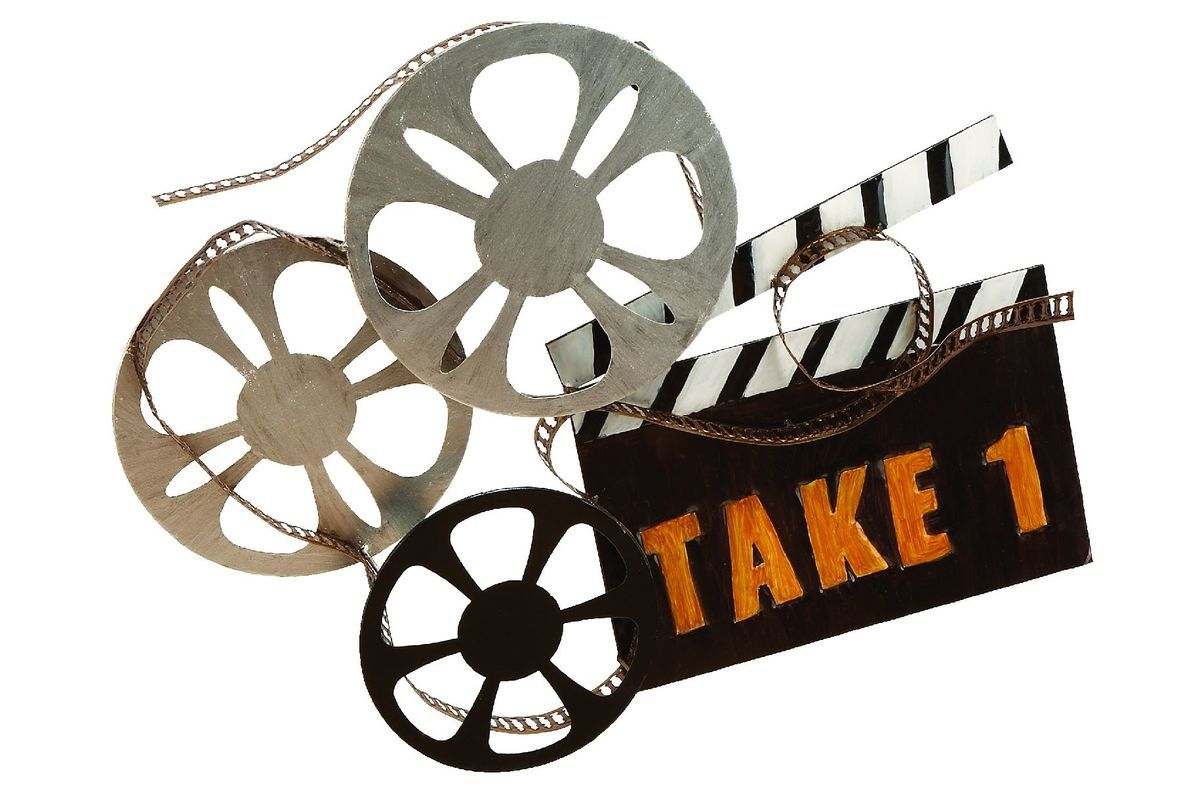 Updated Traditional Movie Themed Wall Montage Metal Wall Art Decor Movie Wall Art Movie Reel Decor
