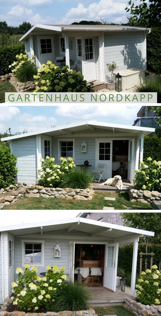 Gartenhaus in Grau Weiß Gartenhaus Nordkapp small house