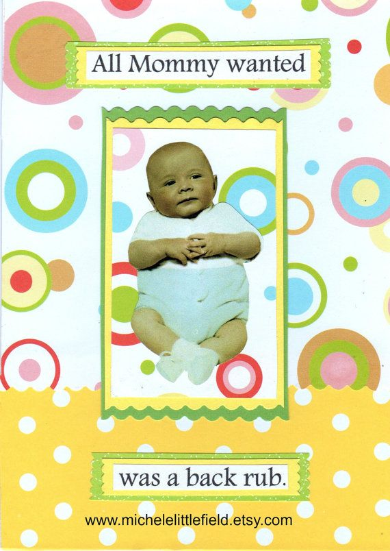 All mommy wanted was a back rub congratulations baby new parents all mommy wanted was a back rub congratulations baby new parents funny greeting card m4hsunfo