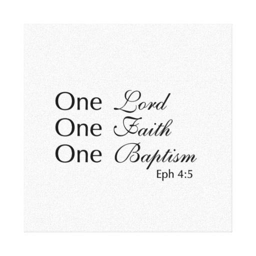 One Lord Faith Baptism Canvas Print