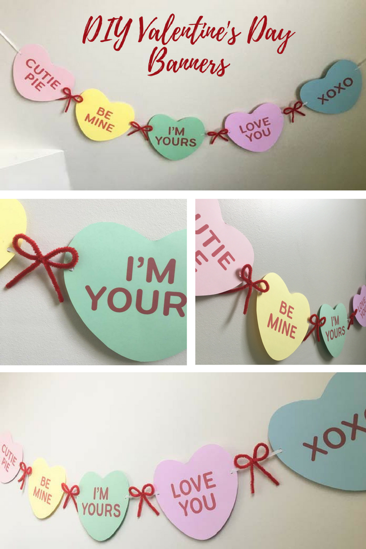 Easy Valentine S Day Banners Free Printable Valentines Day