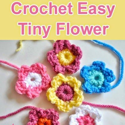 Crochet Easy Tiny Flower Free Crochet Pattern Crafts Pinterest