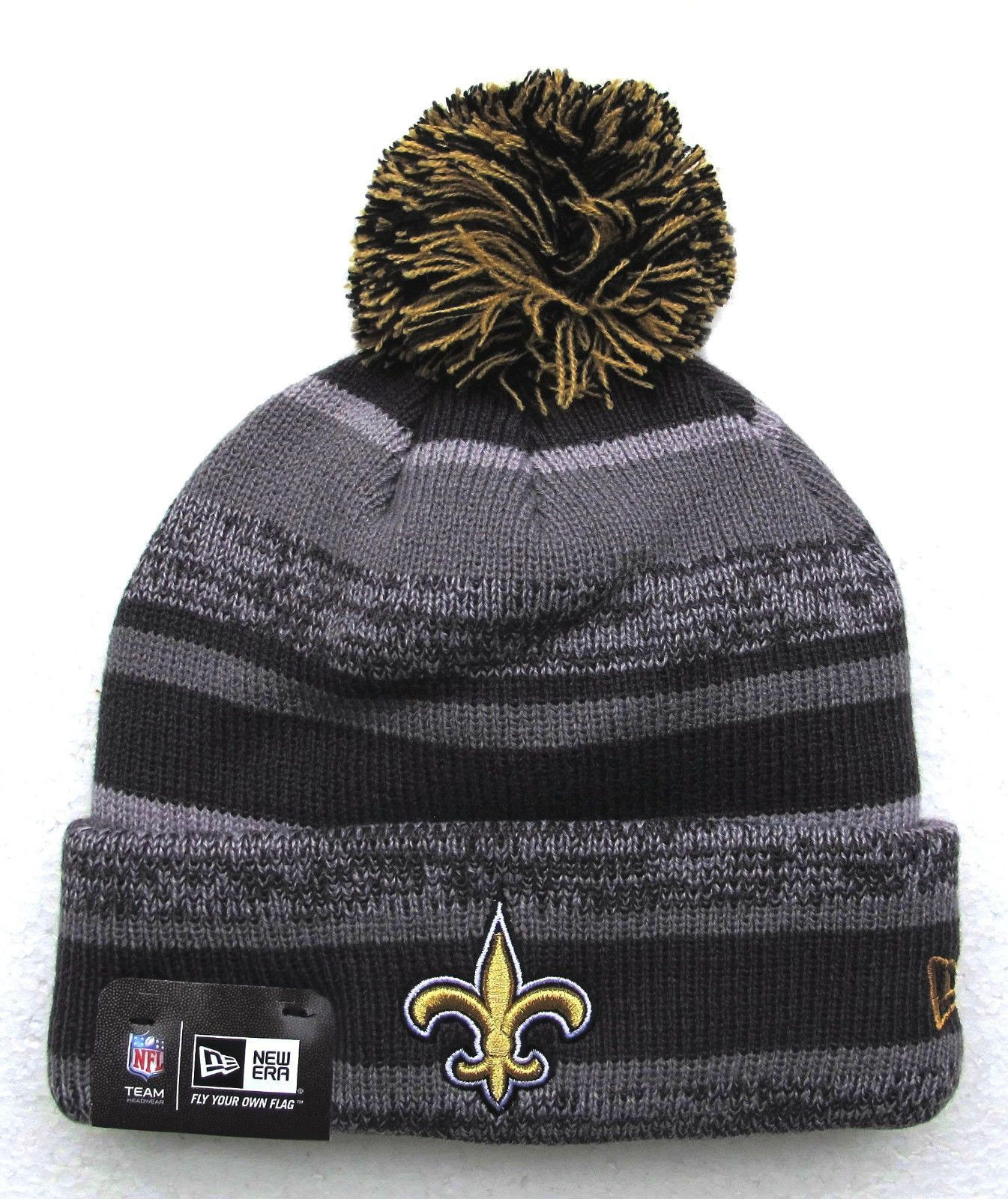19106f37d59 Up for Sale is a New Orleans Saints Knit Pom winter hat by New Era ...