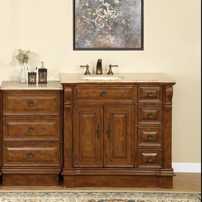 Astoria Grand Tevis 58 Single Bathroom Vanity Set Sink Location