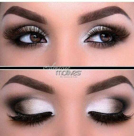 dfadab714 Blanco y negro | Maquillaje en 2019 | Eye Makeup, Makeup For Brown ...
