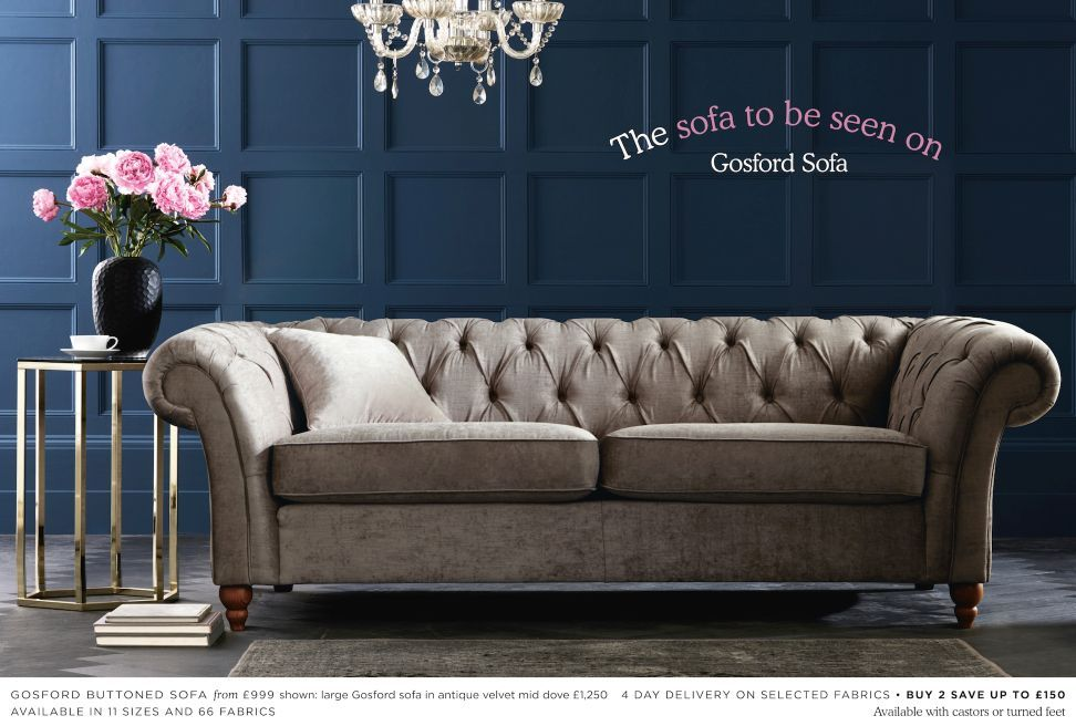 gosford buttoned sofa from next for the home ideas for. Black Bedroom Furniture Sets. Home Design Ideas
