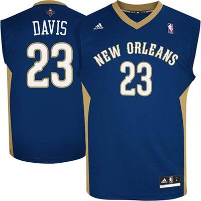 Anthony Davis New Orleans Pelicans adidas Revolution 30 Road Replica Jersey  – Navy Blue