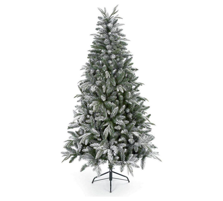 Buy 6ft Flocked Lapland Spruce Christmas Tree Green