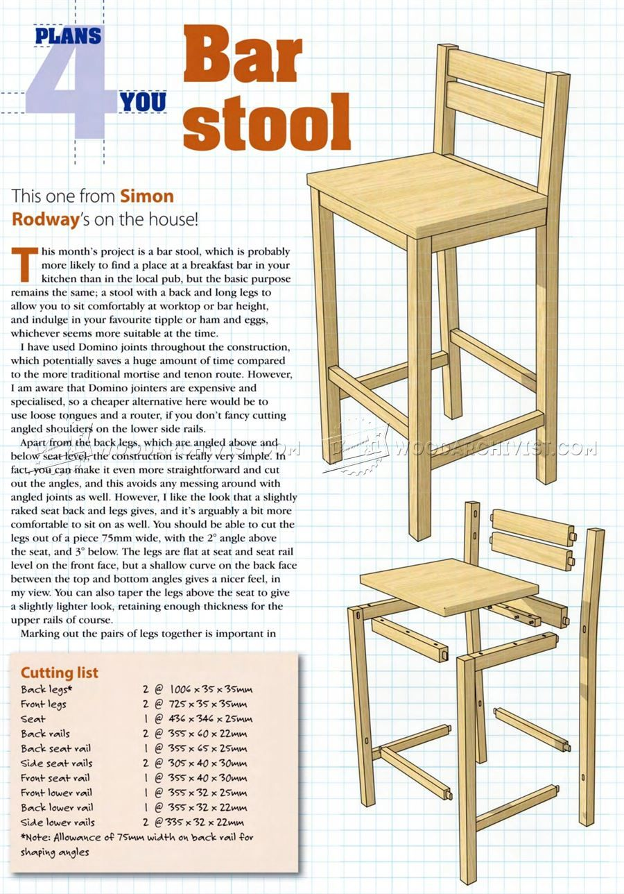 DIY Bar Stools - Furniture Plans  Diy bar stools, Bar chairs diy