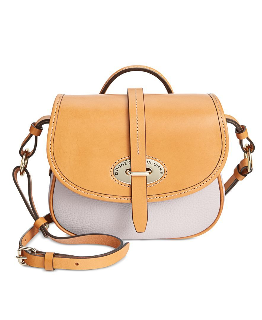 Dooney Bourke Verona Bionda Cristina Saddle Bag Crossbody What I