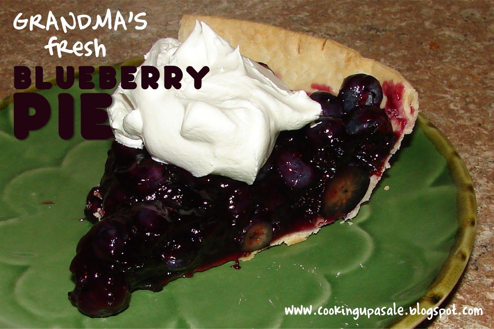 Grandma's Fresh Blueberry Pie