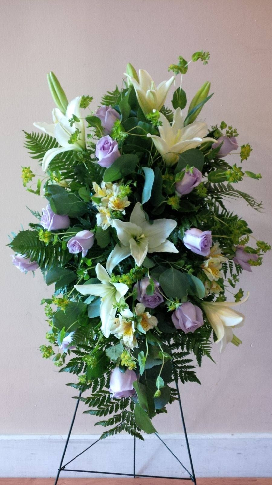 Crosslanesfloral Standing Spray Pastel Colors Of Lilies And