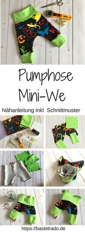 Photo of Pumphose Mini-We – Nähanleitung inkl. Schnittmuster » BASTELRADO