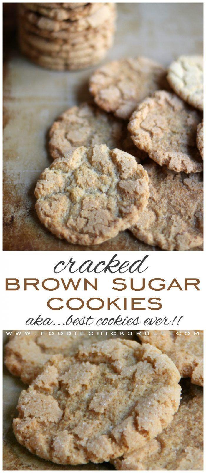 Cracked Brown Sugar Cookies (aka THE BEST SUGAR COOKIE EVER!) - My Pinterest Cookbook Cracked Brown